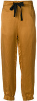 Ann Demeulemeester cuffed ribbon trousers - women - Silk/Cotton/Linen/Flax/Rayon - 34