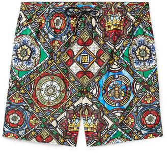Dolce & Gabbana Long-Length Printed Swim Shorts