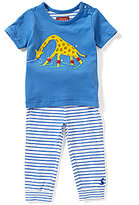 Joules Baby Boys Newborn-12 Months Doodle Giraffe Applique Shirt & Striped Pants Set