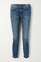 Thumbnail for your product : Rag & Bone Dre Capri Cropped Distressed Mid-rise Slim-leg Jeans - Mid denim