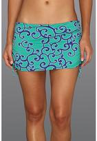 Tommy Bahama Ocean Swirl Side Shirred Skirted Hipster Bottom