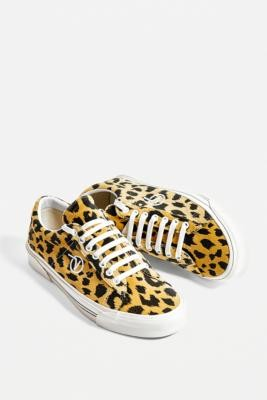 Vans SID DX Leopard Print Trainers - brown UK 4 at Urban Outfitters