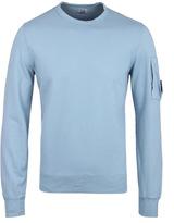 Cp Company Sky Blue Crew Neck Watchviewer Sweatshirt
