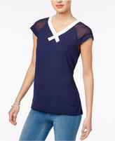 Maison Jules Colorblocked Contrast Sweater, Created for Macy's