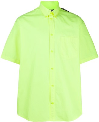 Balenciaga Logo-Tab Short-Sleeve Shirt