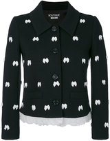 Moschino bow detail jacket - women - Acrylic/Polyamide/Polyester/Virgin Wool - 38