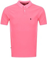 Luke 1977 Basking Polo T Shirt Pink