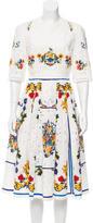 Dolce & Gabbana Broderie Anglaise Maiolica Dress
