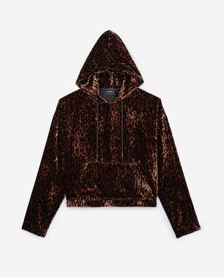 The Kooples Leopard print velvet sweatshirt