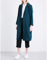 Sandro Relaxed-fit twill coat