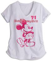 Disney Mickey Mouse Slub V-Neck Tee for Women - Walt World Boutique