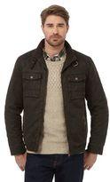 Mantaray Dark Brown Waxed Biker Jacket