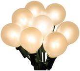 clear Sienna White Ceramic G40 Globe Patio Wedding Christmas Lights, Wire