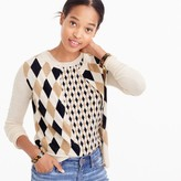 J.Crew Lightweight wool Jackie cardigan sweater in argyle
