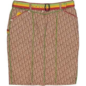 Christian Dior Beige Cotton Skirts