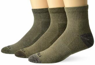 Merrell Men's Wool Blend Cushioned Hiker Quarter Socks 3 Pair
