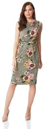 M&Co Roman Originals floral drawstring midi dress