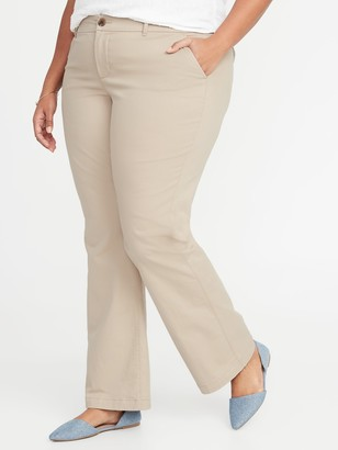 Old Navy Secret-Slim Pockets Plus-Size Everyday Boot-Cut Khakis