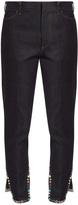 Toga Stud-embellished cropped straight-leg jeans