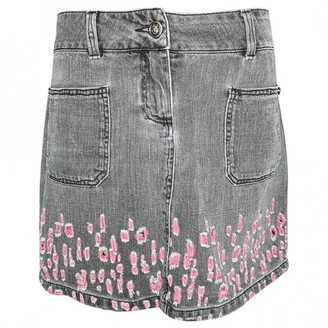 Chanel Grey Denim - Jeans Skirts