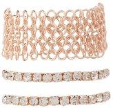 Charlotte Russe Rhinestone & Chainmail Layering Bracelets - 3 Pack