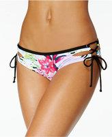 Bar III Tropical Lace-Up Hipster Bikini Bottoms, Created for Macy's