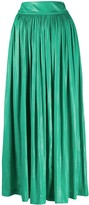 Alysi pleated flared midi skirt
