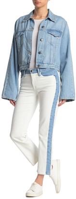 Frame Colorblock High Waist Straight Leg Jeans