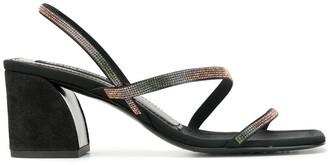 Pedro Garcia Embellished Low Heel Sandals