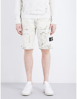 Stone Island Hand Corrosion Cotton Cargo Shorts
