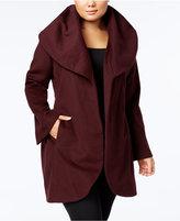 T Tahari Plus Size Marla Wrap Coat