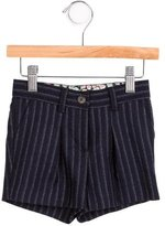 Bonpoint Girls' Wool Striped Shorts