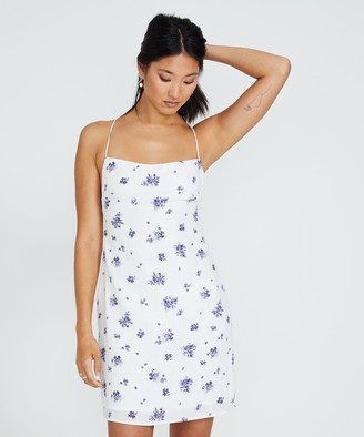 Alice In The Eve Forget Me Not Linen Mini Dress White
