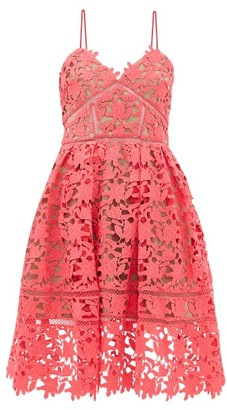 Self-Portrait Azaelea Floral Guipure-lace Dress - Pink