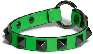 Valentino Studded Neon Leather Bracelet