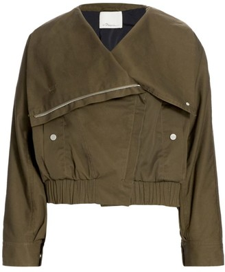 3.1 Phillip Lim Oversized Collar Twill Jacket