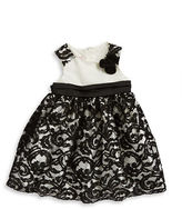 Princess Faith Girls 2-6x Floral Accented Lace Dress