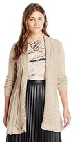 Notations Women's Plus-Size Long-Sleeve Open-Front Cardigan Sweater