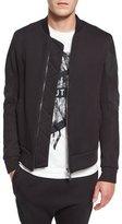 Helmut Lang Channel-Stitch Bomber Jacket, Black