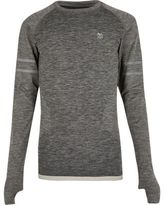 River Island MensRI Active grey seamless sports T-shirt