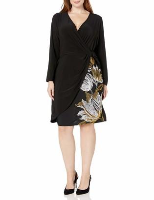 MSK Women's Plus Size Twist Front Surplice Dress