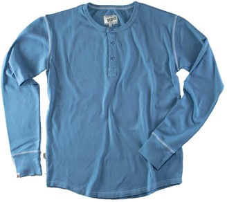 &Sons Trading Co The New Elder Henley Shirt Smoky Blue