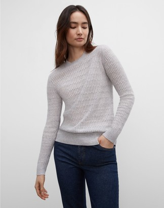Club Monaco Long Sleeve Stitch Cashmere Sweater