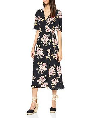 Warehouse Women's Sia Floral Printed Wrap Dress Casual