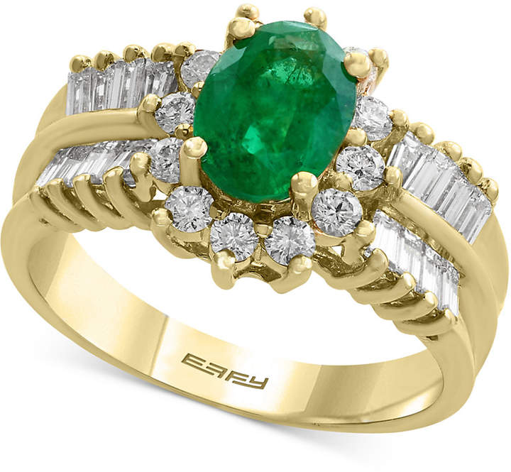 Effy Brasilica by Emerald (1-1/8 ct. t.w.) and Diamond (7/8 ct. t.w.) Ring in 14k Gold