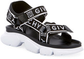 Givenchy Jaw Logo Web Sandals