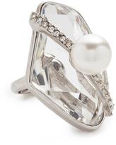 Oscar de la Renta Asymmetrical Crystal Ring