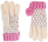Accessorize Speckled Pom Gloves