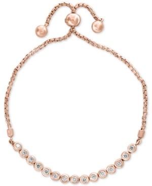 Effy Bubbles by Diamond Bezel Bolo Bracelet (5/8 ct. t.w.) in 14k Rose Gold