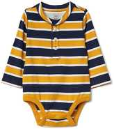 Gap Stripe long sleeve henley bodysuit